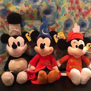 Set of 3 Mickey 90th birthday plush toy